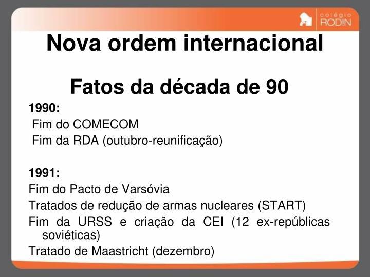 Nova ordem internacional