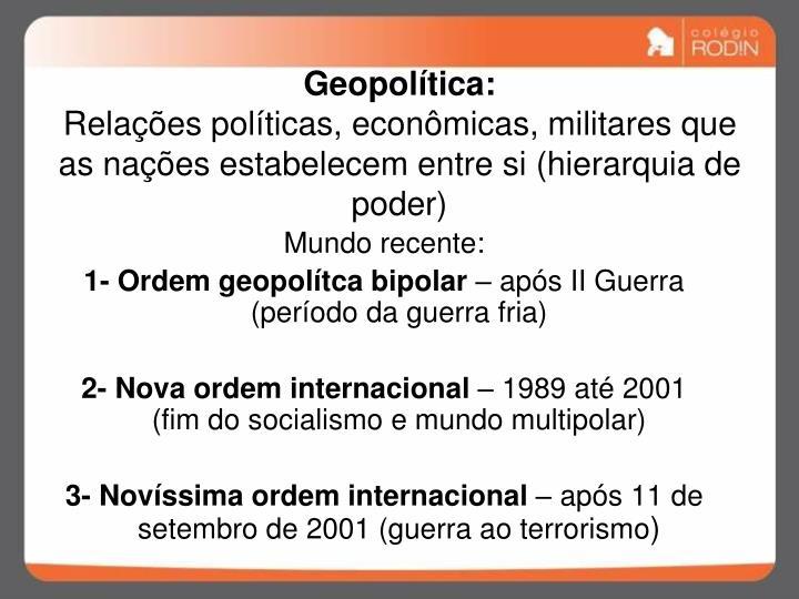 Geopolítica: