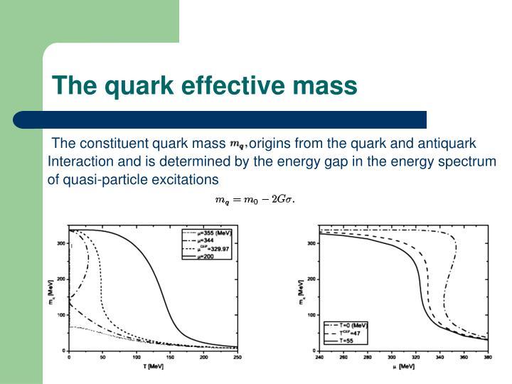The quark effective mass