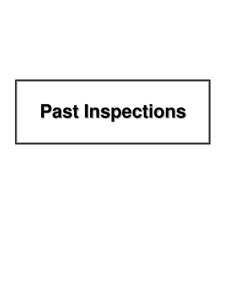 Past Inspections