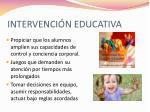 intervenci n educativa