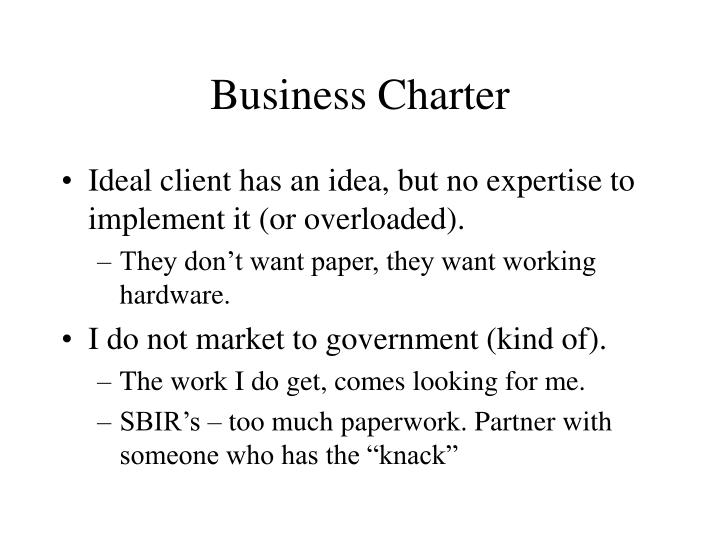 Business Charter