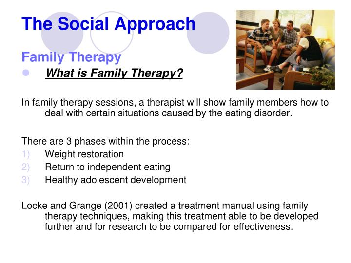 family counseling approach Family therapy, also referred to as couple and family therapy, marriage and family therapy, family systems therapy, and family counseling, is a branch of.