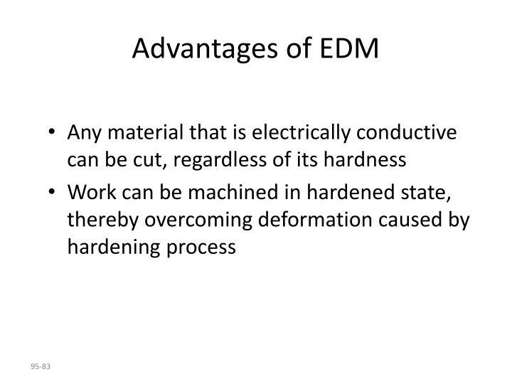 Advantages of EDM