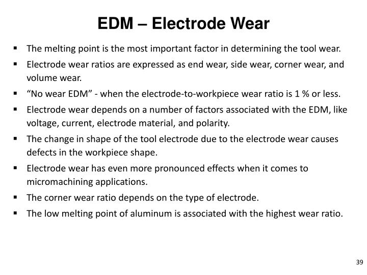 EDM – Electrode Wear