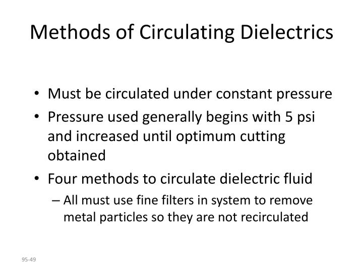 Methods of Circulating Dielectrics