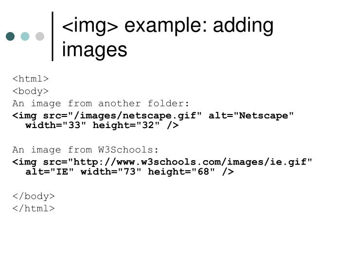 <img> example: adding images