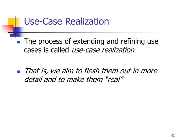 Use-Case Realization