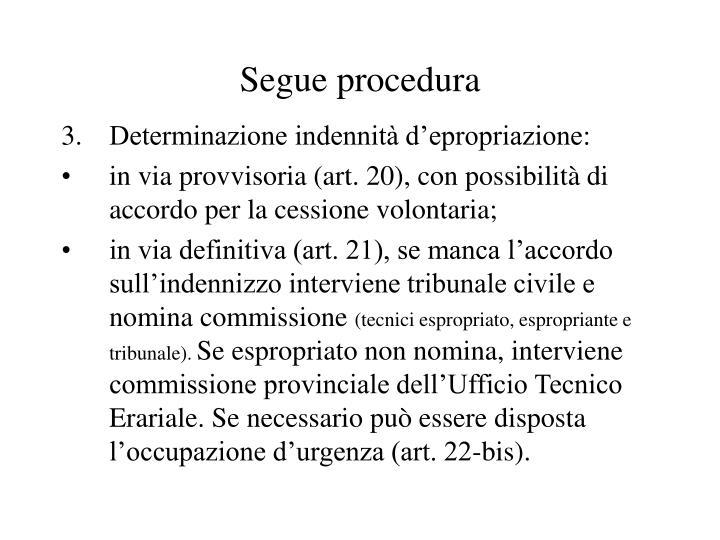 Segue procedura