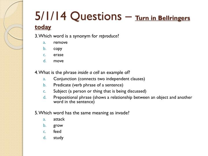 5/1/14 Questions –