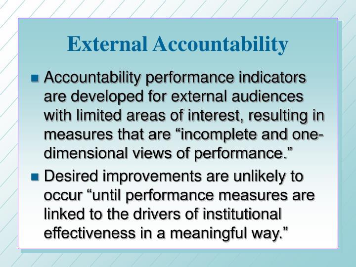 External accountability