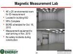 magnetic measurement lab