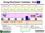storage ring pentant 1 installation week2