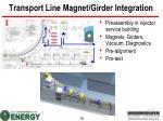 transport line magnet girder integration