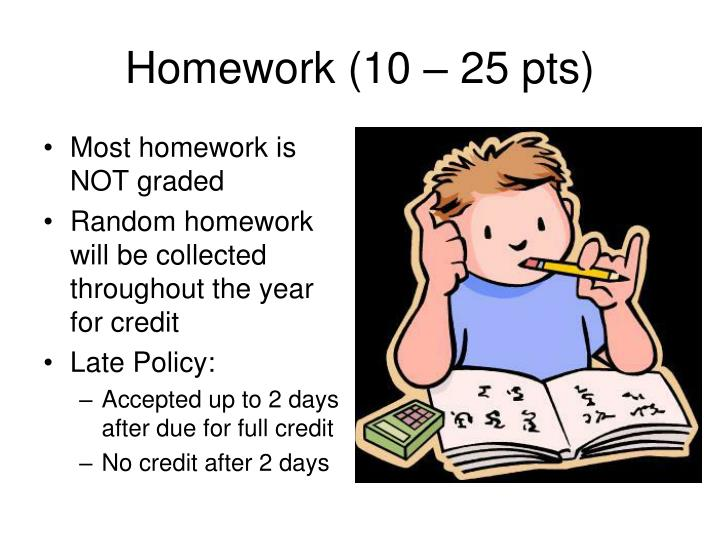 Most homework is NOT graded