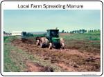 local farm spreading manure