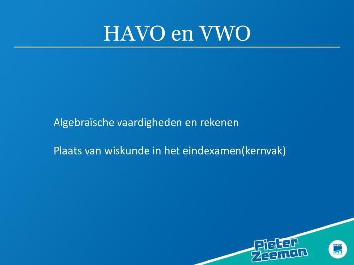 HAVO en VWO