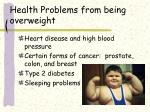 health problems from being overweight