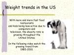weight trends in the us