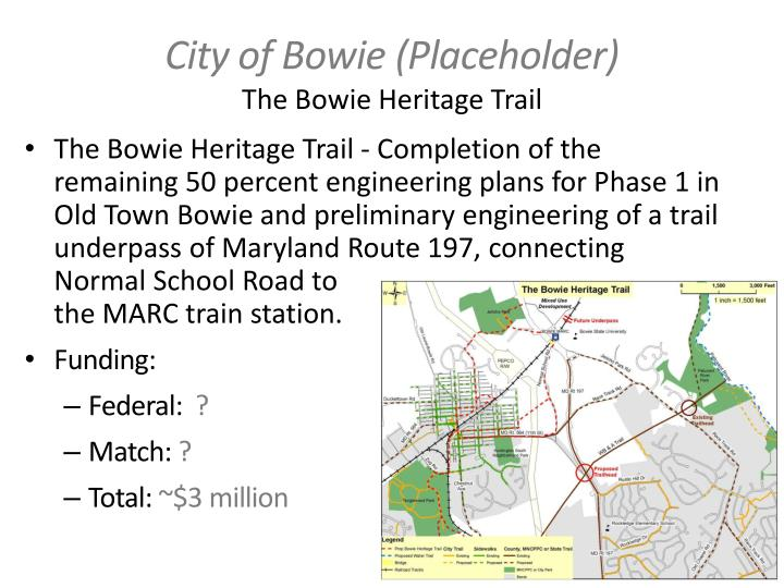 City of Bowie (Placeholder)