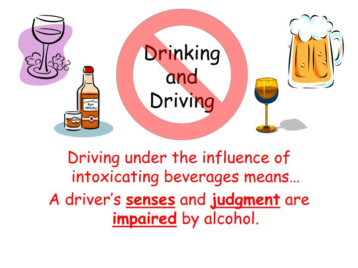 alcohol and driving while intoxicated In most states driving while intoxicated is defined as having a blood alcohol concentration of what blood alcohol concentration impairs driving although the amount of alcohol is different for everyone for actual impairmant, although only slightly, there are two federal standards that should not.