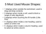5 most used mouse shapes