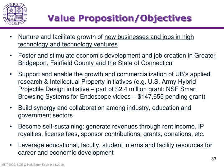 Value Proposition/Objectives