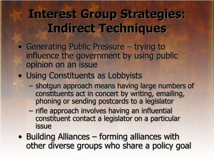 Interest Group Strategies