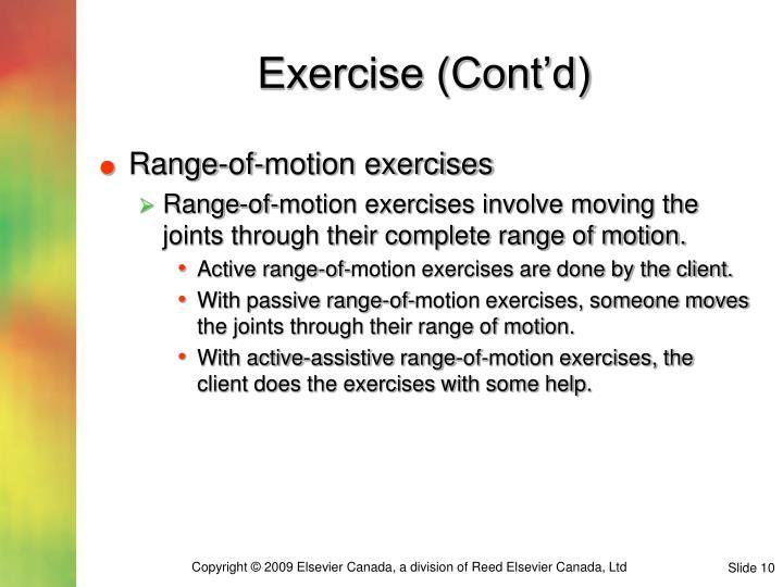 Exercise (Cont'd)