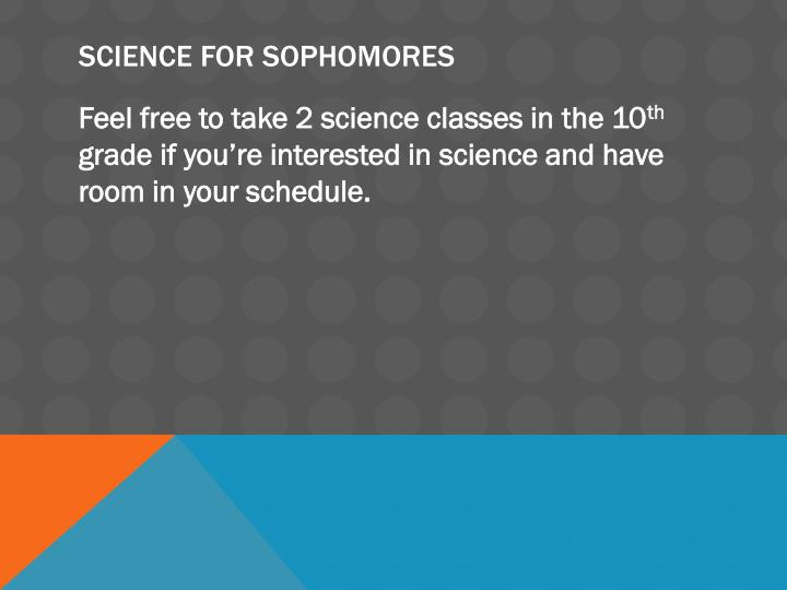 Science for Sophomores