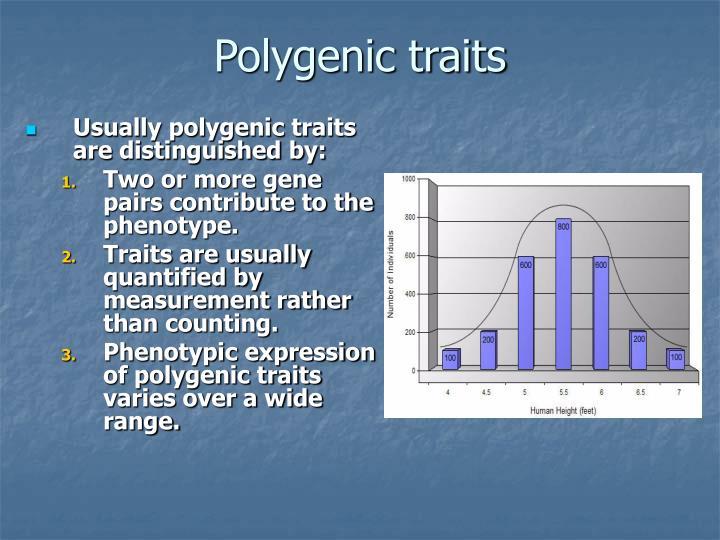 Polygenic traits