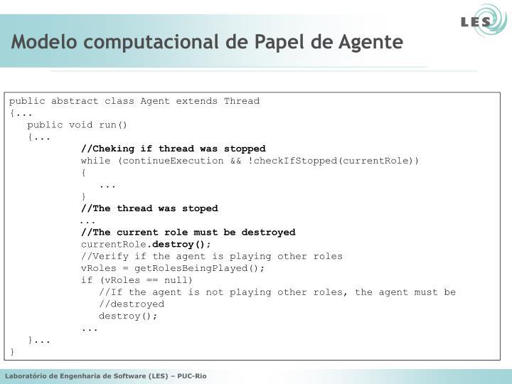Modelo computacional de Papel de Agente