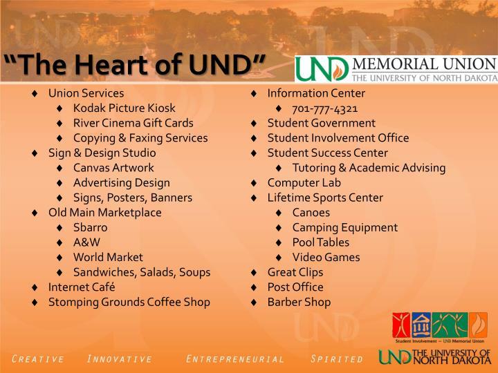 The heart of und