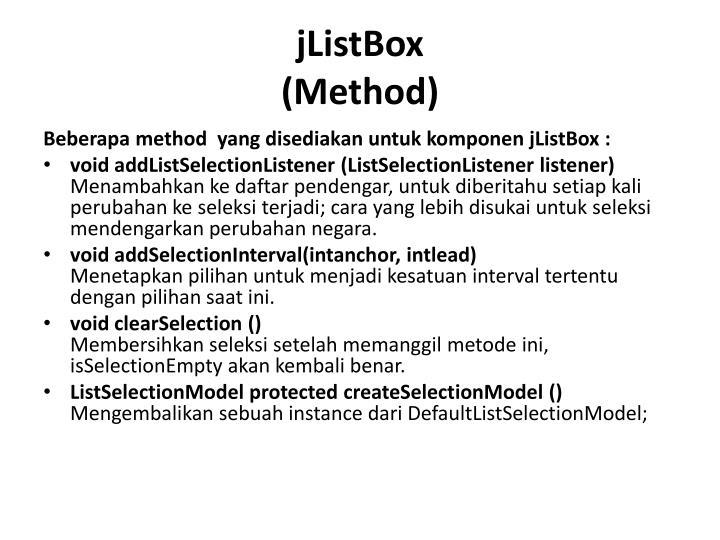 jListBox