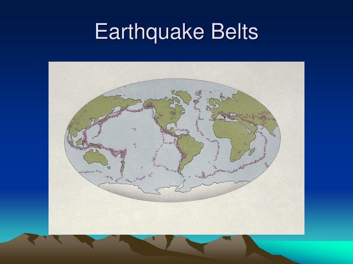 Earthquake Belts