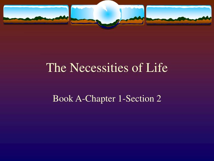 the necessities of life n.