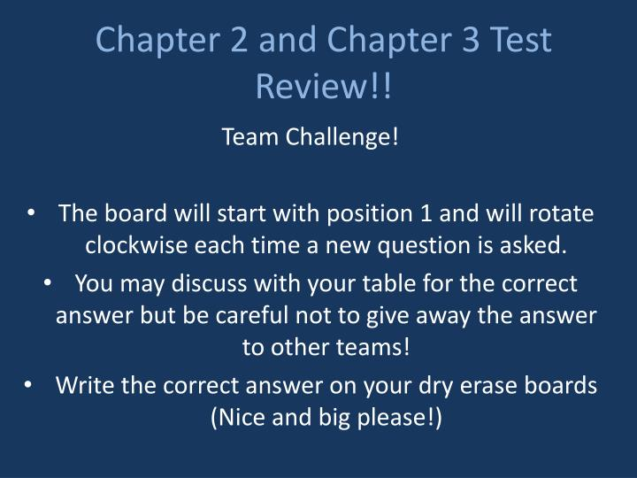 chapter 2 test review Reveal correct response spacebar chapter 2 test review 1 team 2 teams 3 teams 4 teams 5 teams 6 teams 7 teams 8 teams 9 teams 10 teams 11 teams 12 teams 13 teams 14 teams 15 teams 16 teams.
