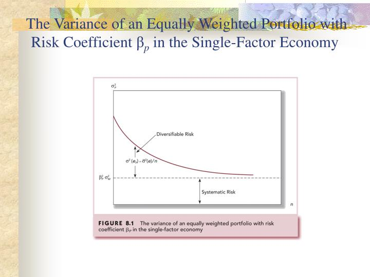 The Variance of an Equally Weighted Portfolio with Risk Coefficient