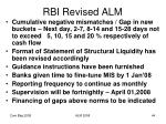 rbi revised alm