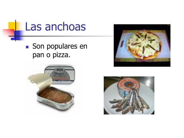 Las anchoas