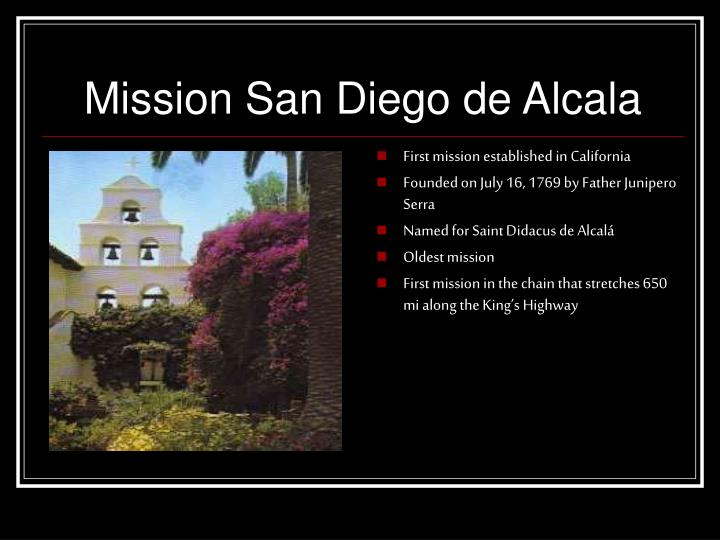 First mission established in California