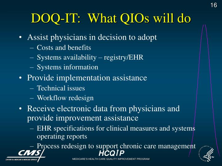 DOQ-IT:  What QIOs will do