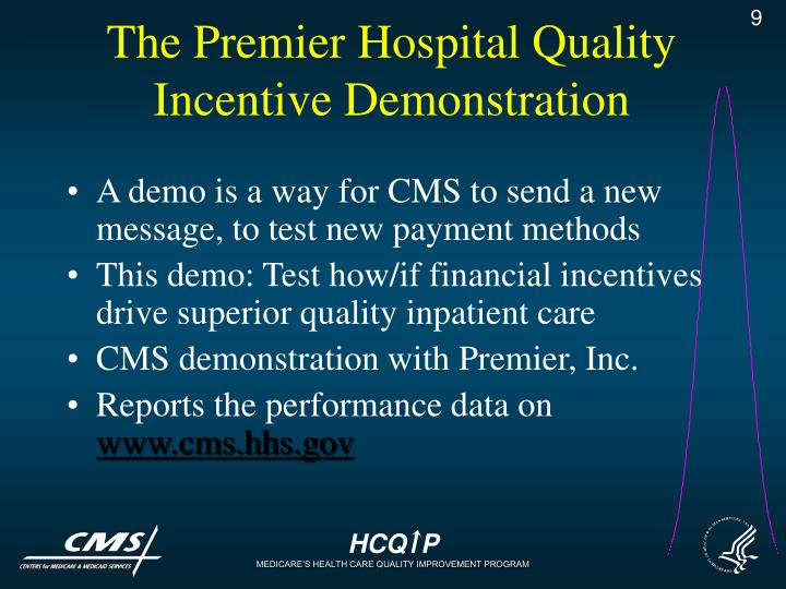 The Premier Hospital Quality Incentive Demonstration