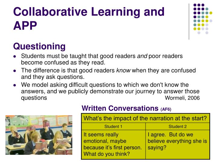 Collaborative Learning and APP