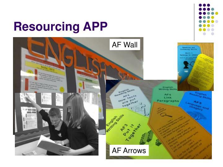 Resourcing APP