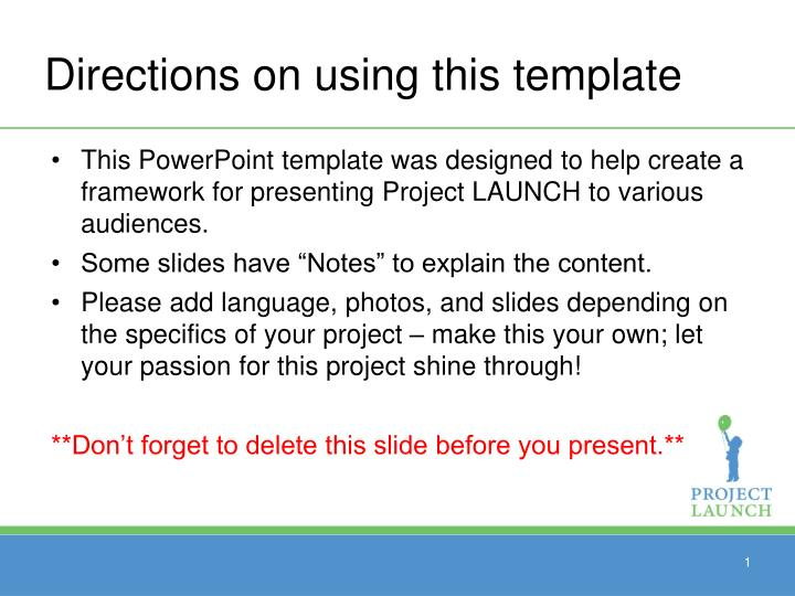 Ppt Directions On Using This Template Powerpoint Presentation Id