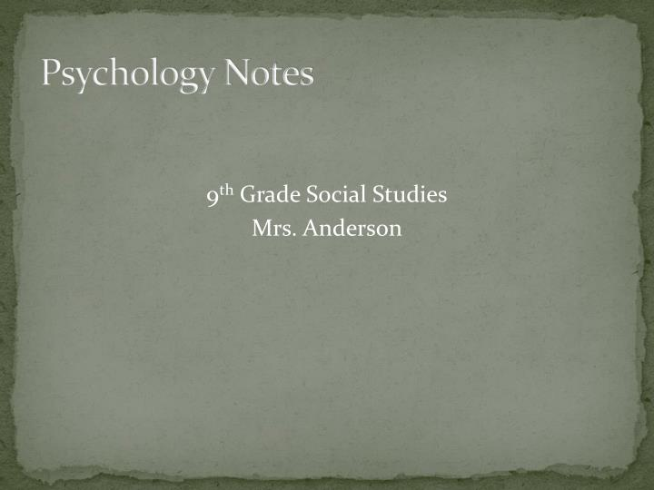 pshycology of personality notes