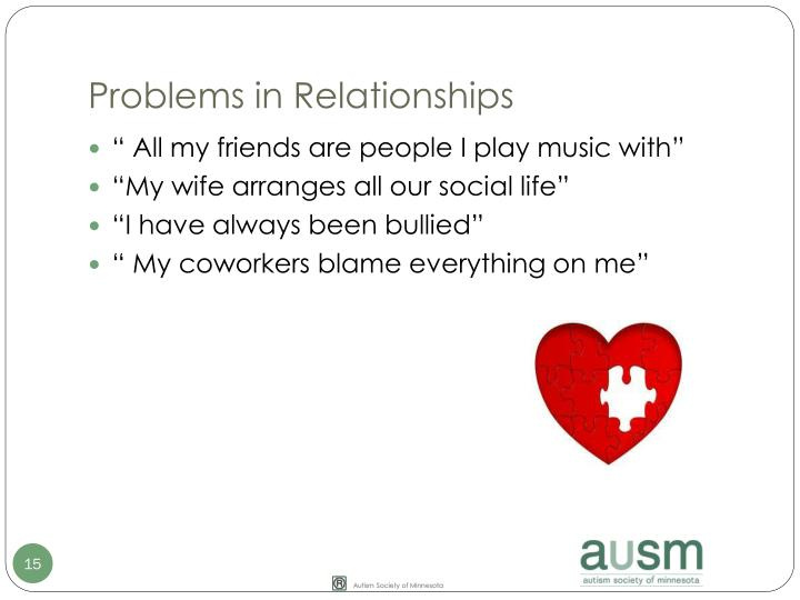 Problems in Relationships