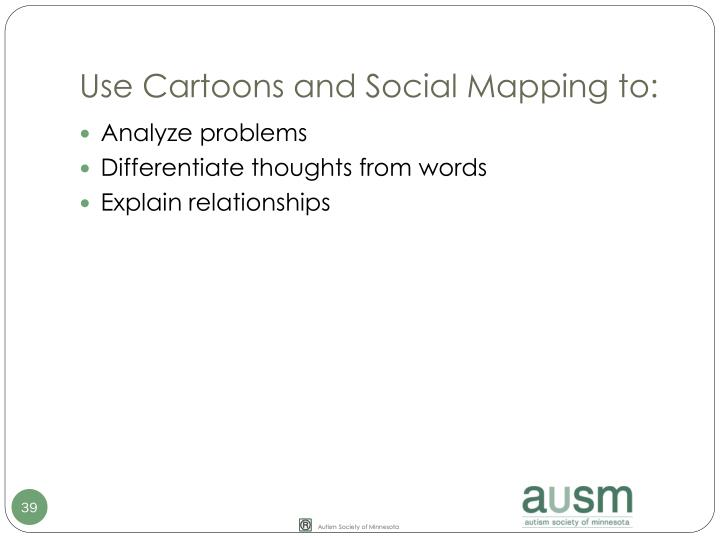 Use Cartoons and Social Mapping to:
