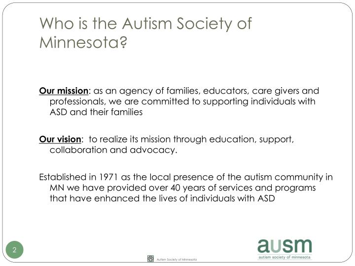 Who is the autism society of minnesota